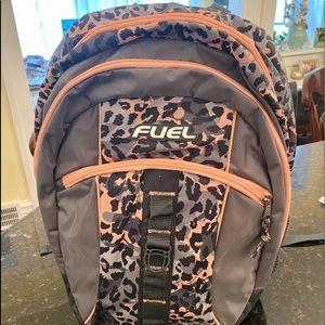 Grey & Pink Cheetah Backpack